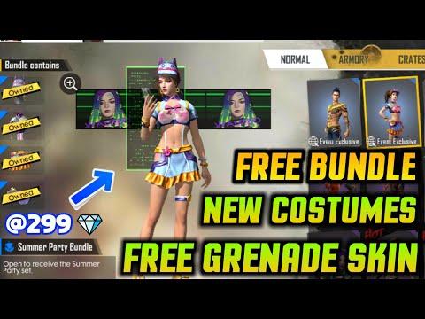 FREEFIRE NEW UPDATE ASTRONAUT BUNNY SET FOR FREE & FREE GRENADE SKIN + WONDERLAND EGG EVENT DETAILS!