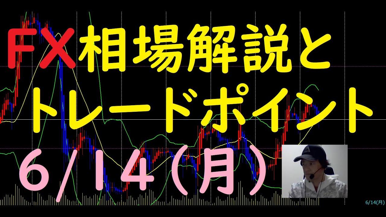 FX相場解説と今後のトレードポイント 6/14(月)