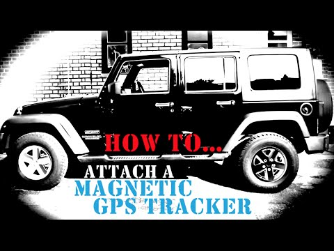 how to attach a magnetic gps tracker car trackers by trackershopcom