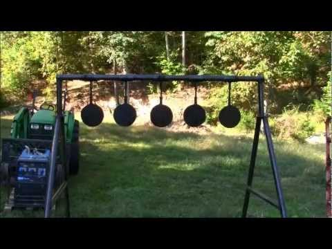 MY Homemade swinging targets..and the Range Officer!!