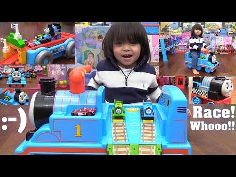 Thomas the Train! Thomas Tracks Ride-On, Mega Bloks Thomas & Friends and Take N Play Thomas