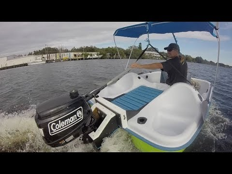 Peddle Boat With A Gas Motor Youtube