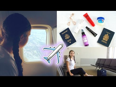 Airplane/Travel Hair, Makeup, Outfit! +My Carry on Essentials