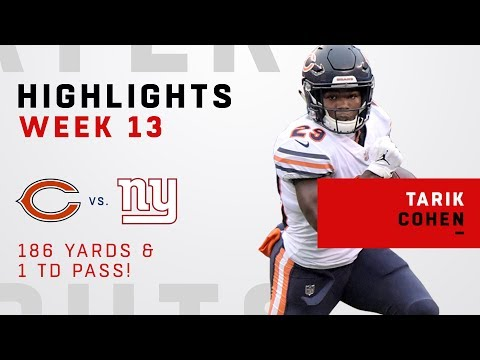 Tarik Cohen Explodes For 186 Total Yards Vs. Giants!