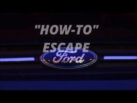 FORD Escape Maintenance Schedule: HOW TO ESCAPE
