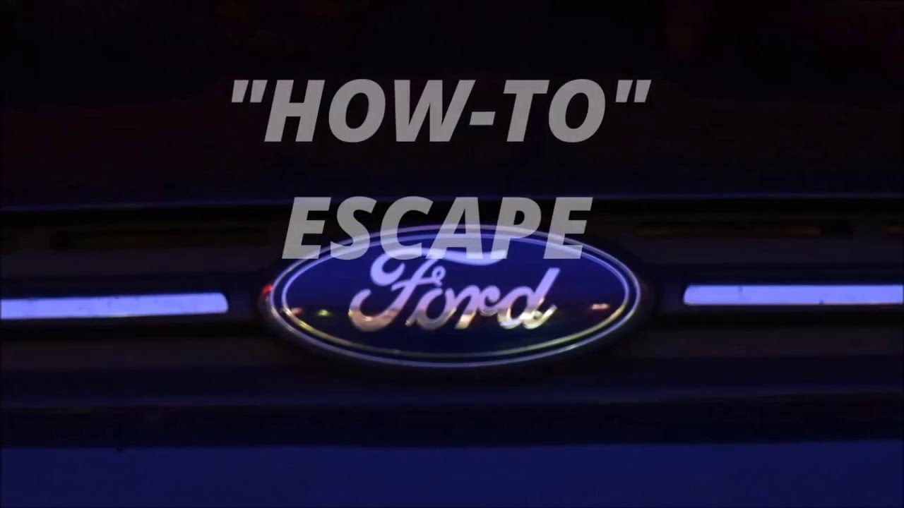 Ford escape maintenance schedule how to escape