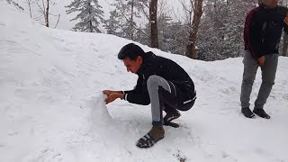 Pakistan Murree Hills Area With Snow Falling || Mountain View || Must Watch