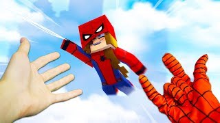 REALISTIC MINECRAFT - ALEX BECOMES SPIDERMAN!