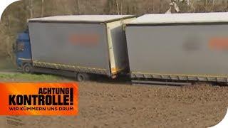 LKW Panne - Kann der ADAC den Truck bergen? | Achtung Kontrolle | kabel eins