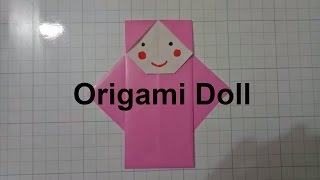 Origami Doll/diy paper doll/easy origami for kid