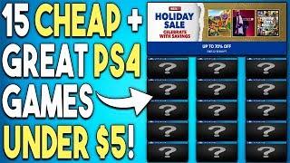 15 Super Cheap PS4 Games Under $5 Now! - PSN Holiday Sale 2018 Deals!