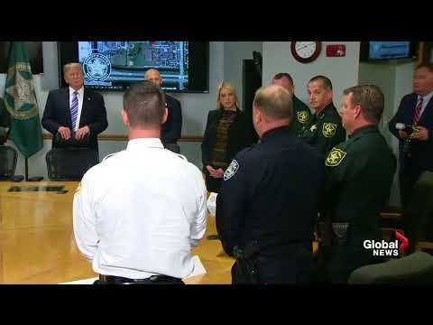 Donald Trump meets with Florida school shooting first responders
