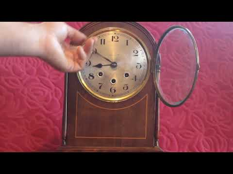 """Antique British """"Fears Ltd"""" 8-Day Mantel Clock with Westminster Chimes"""