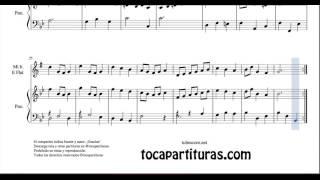 Minueto en Sol M Partitura Dúo Saxofón Alto, Barítono Saxo, Trompa y Piano