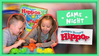 Kids  Family Game Night - Hungry Hungry Hippos! Fun Toys