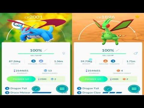 Pokemon Go 3rd Gen - 100%IV Salamence & 100%IV Flygon Evolutions