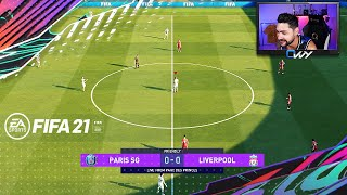 PLAYING FIFA 21 FULL GAME!!! WHAT HAS CHANGED IN THE GAMEPLAY!! LIVERPOOL vs PSG FULL MATCH!!