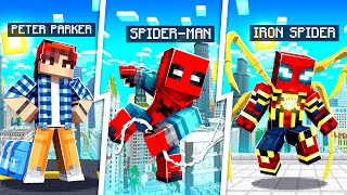 LIFE OF IRON SPIDER MAN IN MINECRAFT!