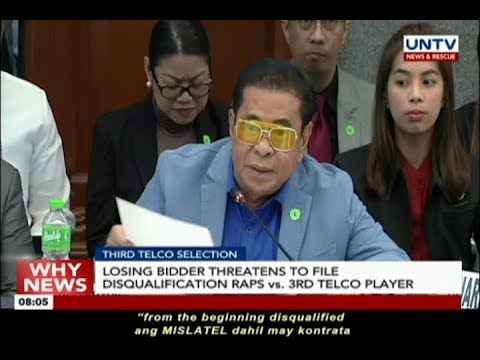 Losing bidder threatens to file disqualification raps vs 3rd telco player