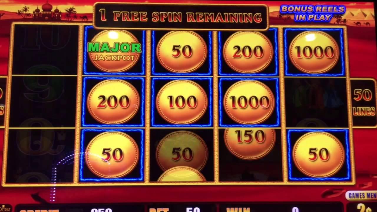 Major jackpot slot machine