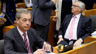 Nigel Farage, former Ukip leader, tells the European parliament tha...