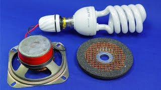 100% Working Idea Free Energy Generator With Speaker Free Electricity for Home  Science Experiment