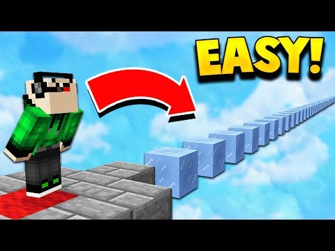 MEGA NOOB vs EASIEST MINECRAFT ICE PARKOUR MAP! 😂