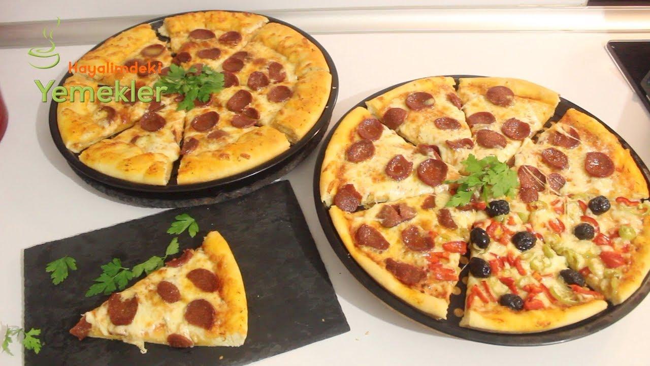 Evde kolay sucuklu pizza nasıl yapılır