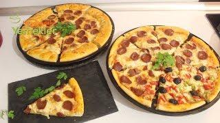 Muhteşem Hamuruyla Sucuklu Pizza Nasıl Yapılır /Kenarı Dolgulu Pizza Tarifi /Hayalimdeki Yemekler