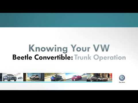 Trunk Operation | Knowing Your VW