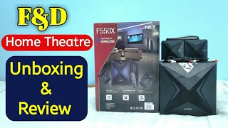 F&D F550X 2.1 Channel Multimedia Bluetooth Speakers Unboxing and Review in HINDI | Technical Alokji