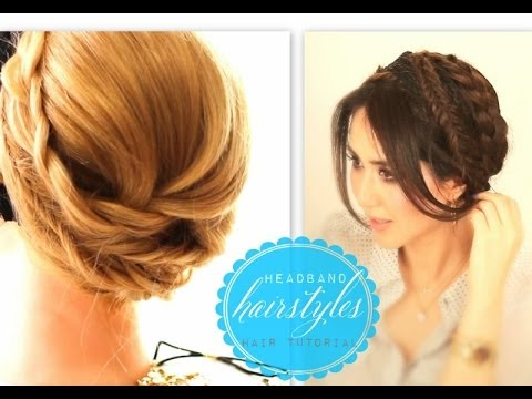 cute headband hairstyles 1 everyday crown braid prom updo cute headband hairstyles 1 everyday crown braid prom updo for medium long hair tutorial solutioingenieria Image collections