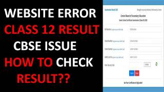 WEBSITE ERROR CLASS 12 RESULT 2020 |CBSE ISSUE HOW TO CHECK RESULT??