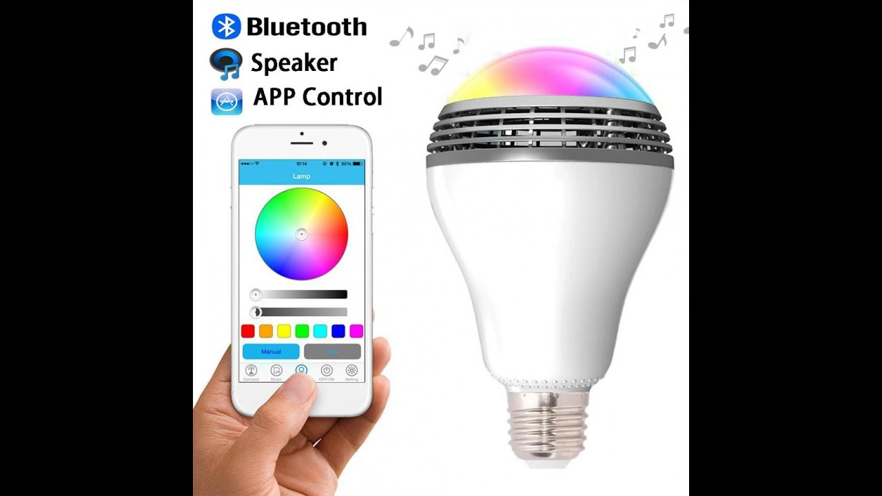Smart Color LED & Bluetooth Speaker Light Bulb with Mobile ...