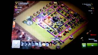 Clash of clans gowipe cv 8 3 estrelas cv 9 e 10