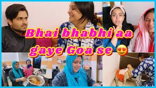 Bhai and bhabhi back from goa | Question about goa | kheer recipe | ibrahim family