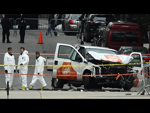 Eight people killed after truck drives on to New York bike path