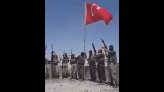 Nusaybinde Özel Harekat Polisinden Bayrak Şiiri
