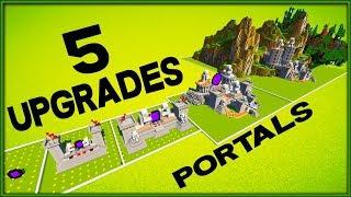 7 Minecraft 5x5 Nether Portal Upgrades Speedbuild Timelapse