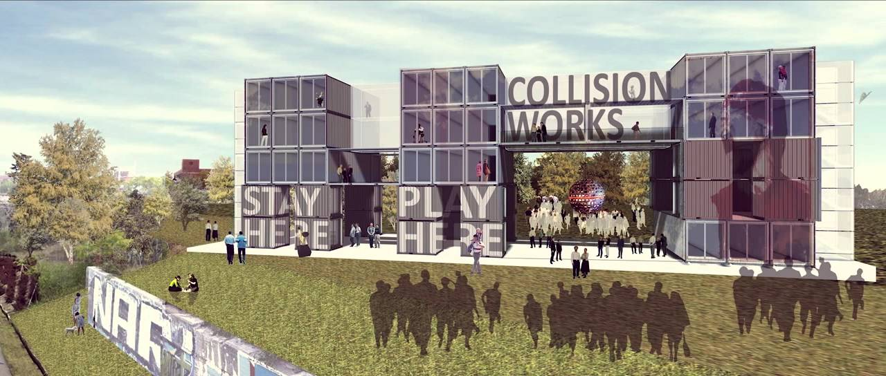 Collision Works Innovative Boutique Hotel In Detroit Made Of Shipping Containers