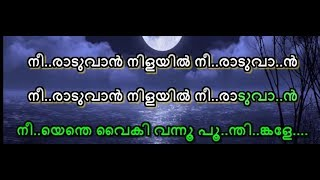 Neeraduvan nilayil unplugged Karaoke Lyrics Music Mojo Thaikkudam Bridge