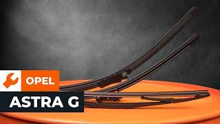 Kā nomainīt Stikla tīrītāja slotiņa OPEL ASTRA G Hatchback (F48_, F08_) - tiešsaistes bezmaksas video