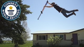 Highest Jump on a pogo stick - Meet the Record Breakers
