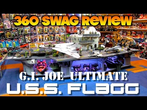 80's Playset Review: G.I. Joe ULTIMATE U.S.S. FLAGG Aircraft Carrier (1985 + Custom Base)