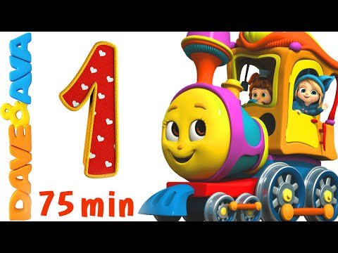 Numbers Song Collection  Number Train 1 to 10  Counting Songs and Numbers Songs from Dave and Ava