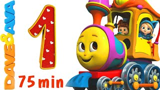 Numbers Song Collection | Number Train 1 to 10 | Counting Songs and Numbers Songs from Dave and Ava thumbnail
