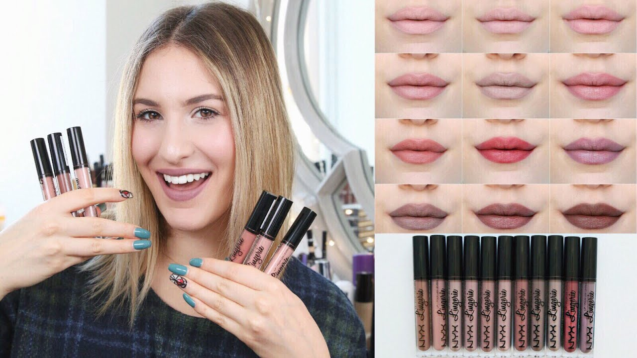 Nyx Lingerie Liquid Lipstick Review Swatches Hot Or