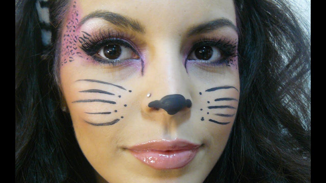 maquillaje de gato para halloween youtube