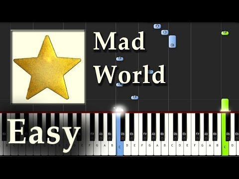 Mad World - Gary Jules - Piano Tutorial...