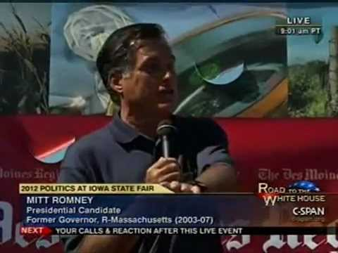 Mitt Romney Responds To Angry Voters In Iowa Corporations Are People My Friend.mp4